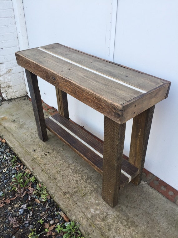 Reclaimed Wood Sofa Table Hand Made by EraLeaven on Etsy