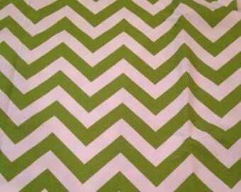 Lime Green Premier Prints Chevron Cotton Duck Canvas Fabric