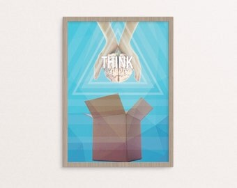 Think outside the box Poster Print