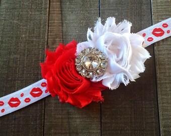 Valentine Headband, Infant Headband, Love Headband