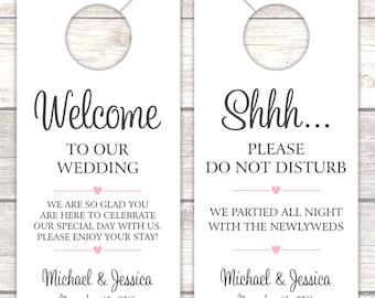 Wedding door hanger (12) - Door hanger wedding - Do not disturb door hanger - Do not disturb wedding