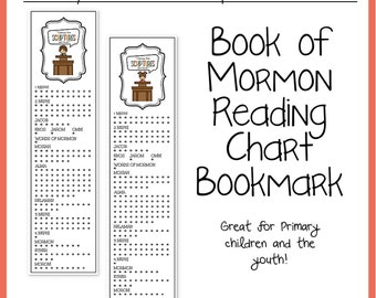 I know the Scriptures are True Book of Mormon Reading Chart Bookmark