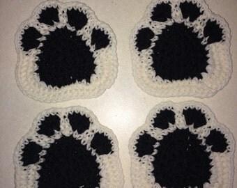 Dog paw coasters