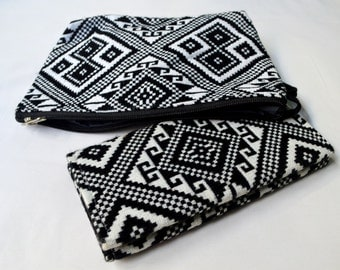 Set of 2 Beautiful Handwoven Laos Purse And Clutch