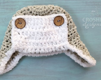 Baby handmade crochet hat, Aviator hat, winter hat, warm hat, man hat, baby winter hat, baby shower gift, Made to Order