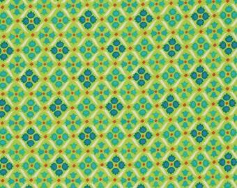 1/2 Yard Flea Market Fancy by Denyse Schmidt Medallion in Green quilt fabric