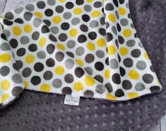 Personalized Baby Blanket, Minky Baby Blanket, Gender Neutral Baby Blanket, Gender Neutral Minky Blanket