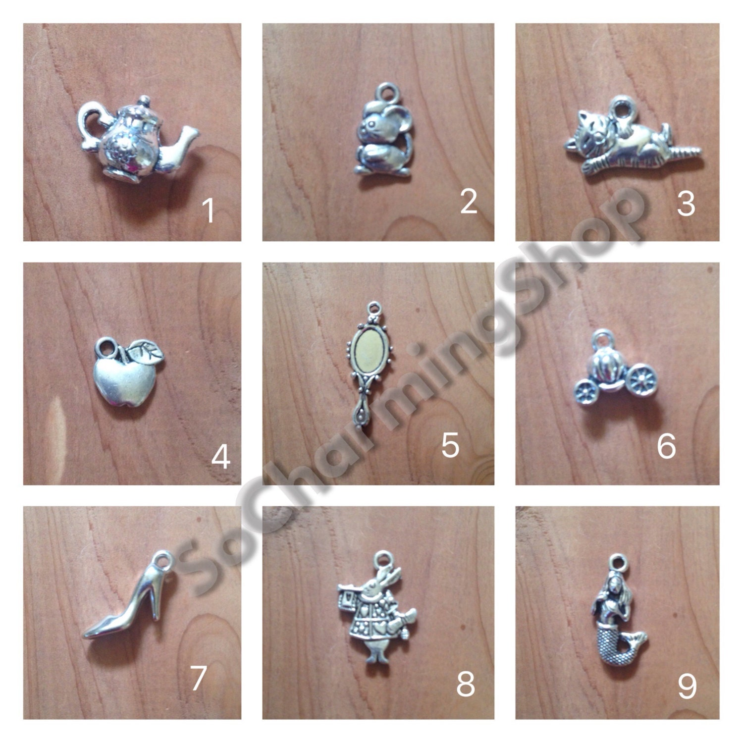 Charm pendants charm jewelry heart charms cross for Just my style personalized jewelry studio
