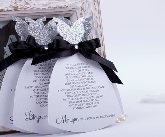 Bridal Party Invitations Card Will you be My Bridesmaid Card, Bridesmaids Cards