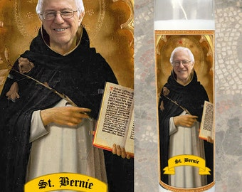 Bernie Sanders Prayer Candle - Gift under 15 Dollars - Feel the Bern - Saint Bernie - Senator Bernie Sanders - Political Prayer Candle