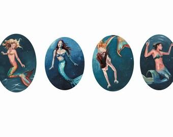 mermaid artprint DINA3