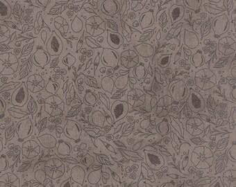 Black Tie Affair, Fabric by the yard, Black Tie Affair Fig Study Grey, Basic Grey, Moda Fabrics, Grey Fabric, Floral Fabric, 30422 15