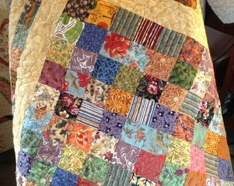 Lovely Autumn Square Block Quilt