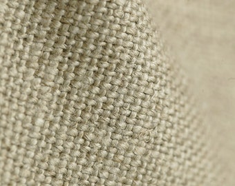 Fabric upholsterer 100% pure linen colour natural
