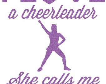 Love A Cheerleader Mom Iron On Decal