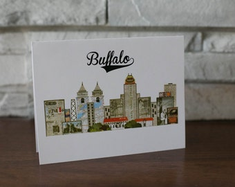 Buffalo New York Blank Note Cards
