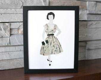 Lady with Purse Print