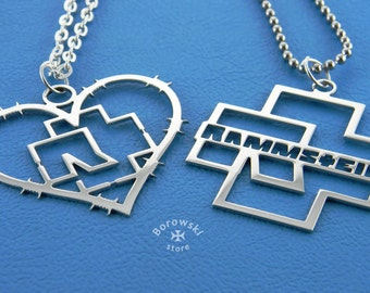 FREE SHIPPING  Included Parts of two pendants Rammstein