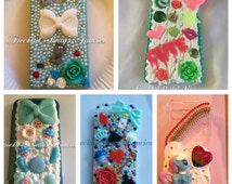 SPECIAL OFFER, custom phonecase, ANY style or design, iphone case, Samsung Case, decoden, crystals, bling