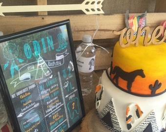 Birthday Milestone Board -