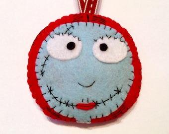 Felt Sally Nightmare Before Christmas Decoration Ornament