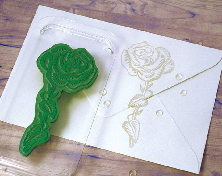 Rose wedding rubber stamp large art stamp for Wedding dress rubber stamp