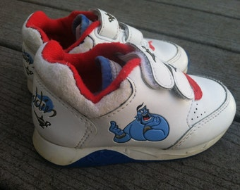 Vintage Disney's Aladdin Genie Velcro Shoes Children's size 6