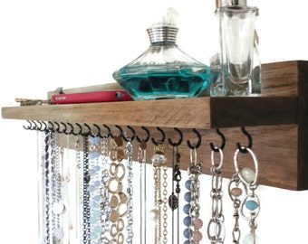 Jewelry Organizer - Necklace Holder - With A Shelf