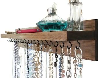 Jewelry Organizer - Necklace Holder - With A Shelf