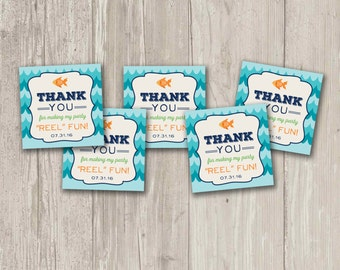Fish Party Favor Tags, Thanks for making my party REEL fun!   Printable
