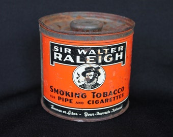 Sir Walter Raleigh Tobacco Tin 1940s