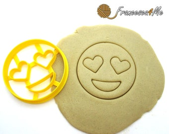 Heart Eyes Emoji Cookie Cutter/ Multi-Size