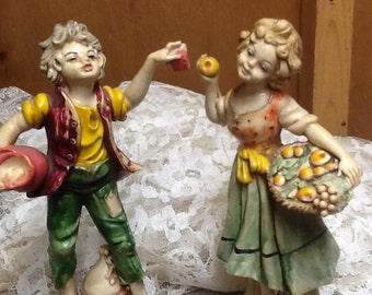Italian Boy & Girl Figurines