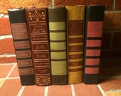 Vintage Reader's Digest Collection of 5 Hardcover Books in Red/Green tones