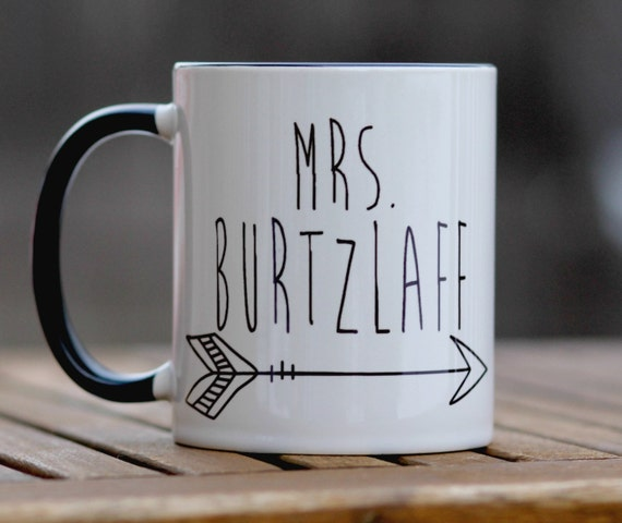 personalized coffee mug, teacher gift, engagement gift, gift for bride ...