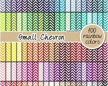 SALE 100 small chevron digital paper chevron pattern rainbow chevron clipart scrapbooking kit nautical pattern 12x12 pastel neutral bright d