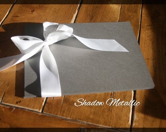 """Paper,  card stock, Curious Metallics, shimmery, invitations, scrap booking, Blank - 8.5 x 11"""" Pack of 50 or 100, Shadow Metallic grey gray"""