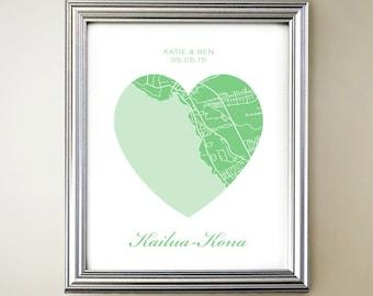 Kailua-Kona Heart Map