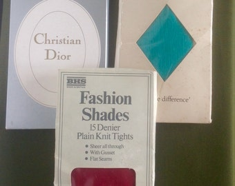 Vintage Coloured Tights. 1960's/70's