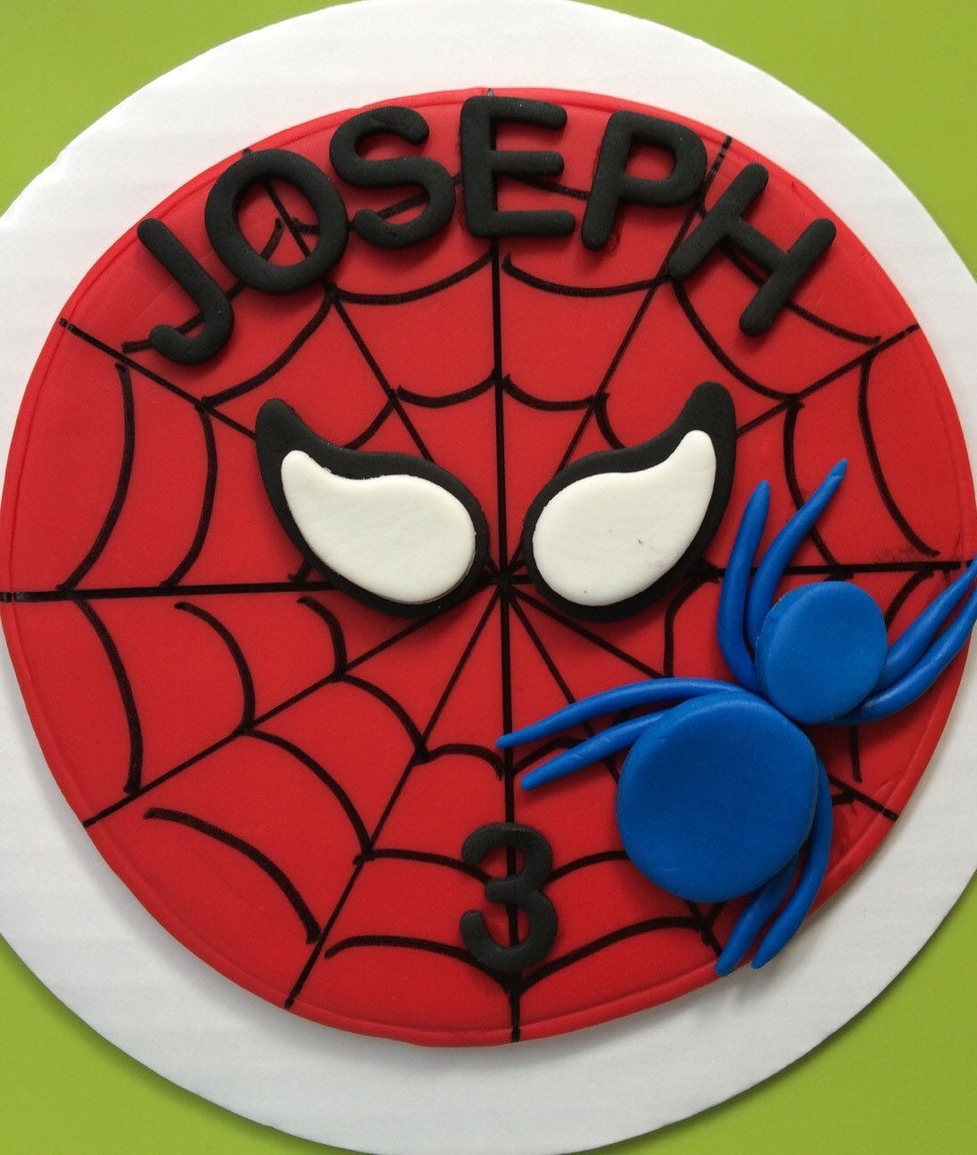 Spiderman Cake Decorations Uk : spiderman cake topper 6 edible fondant cake topper