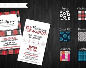 NEW Fall/Winter Patterns | Customer Loyalty Business Punch Cards | Download Print at Home