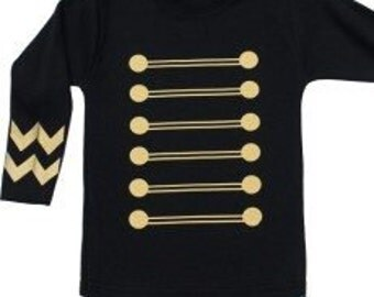 Jimi Rock Military Baby & Kids Top - Jimi Hendrix Jacket Kids Top / Boys T-Shirt / Long Sleeved Military Toddler Shirt