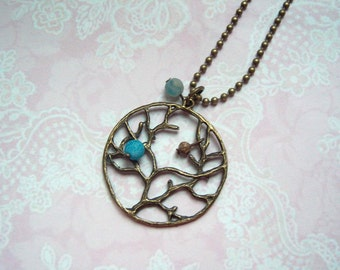Necklace tree vintage turquoise