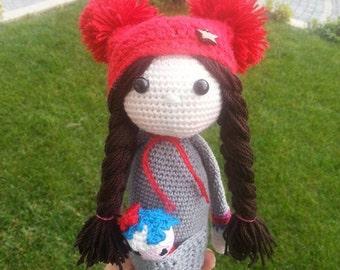 Ameila the crochet doll