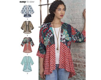 Simplicity Sewing Pattern 8172 Misses' Kimonos with Length, Fabric and Trim Variations