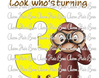 curious george digital iron on