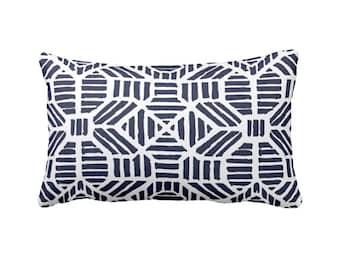 SALE | 30% OFF: Navy Blue Pillow Cover Blue Throw Pillow for Couch Pillows Decorative Pillows for Sofa Geometric Pillows Navy Lumbar Pillow