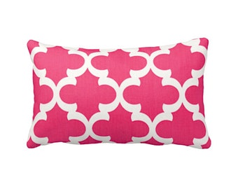 7 Sizes Available: Pink Cushion Covers Decorative Pillow Hot Pink Pillow Covers Pink Throw Pillow Covers Moroccan Pillow