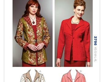 Kwik Sew Pattern   K3796 Misses' Wing Collar Jackets