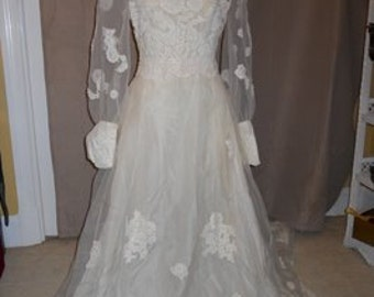 Vintage hand made wedding gown